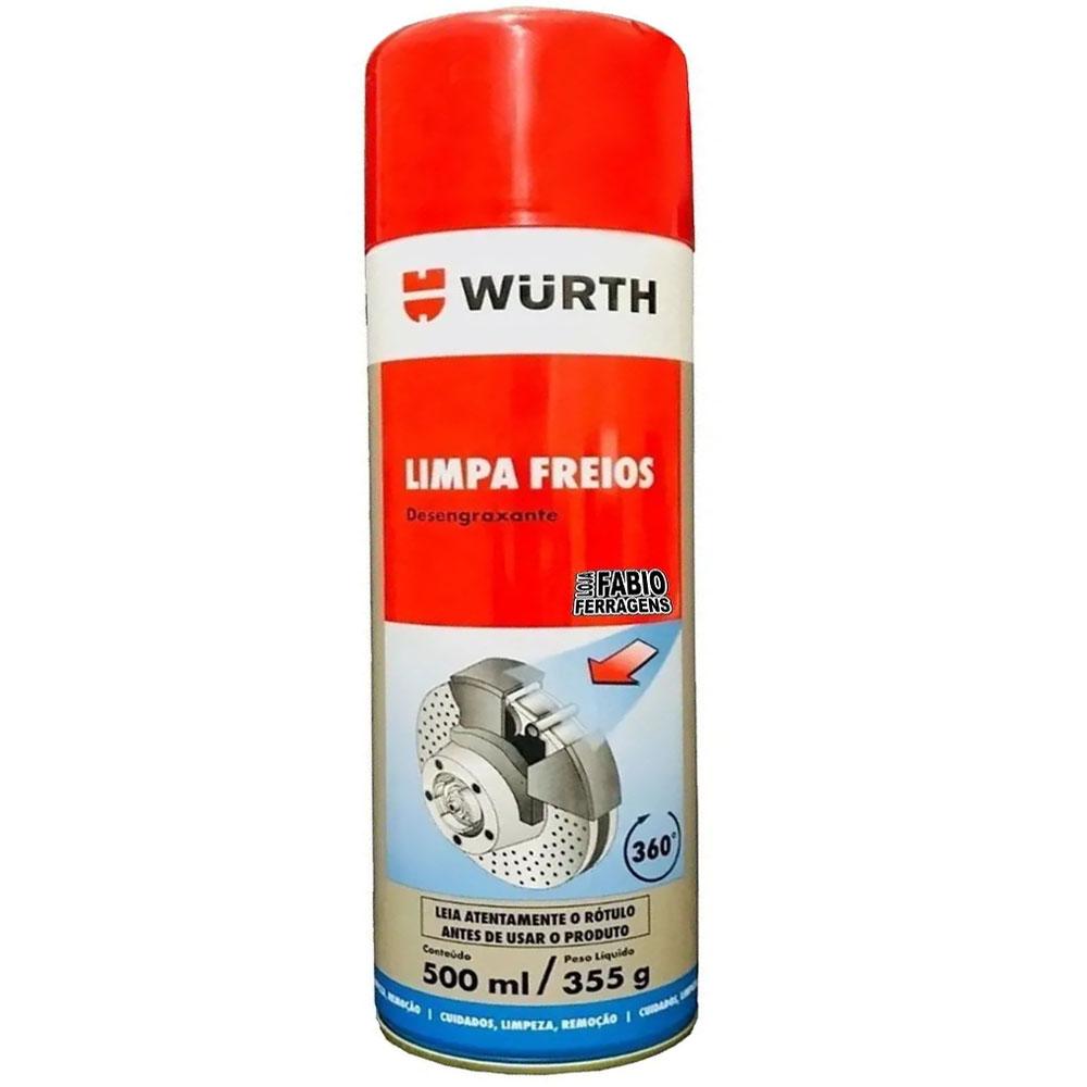 Limpa Freios Desengraxante Wurth De 500 Ml / 355 Gramas