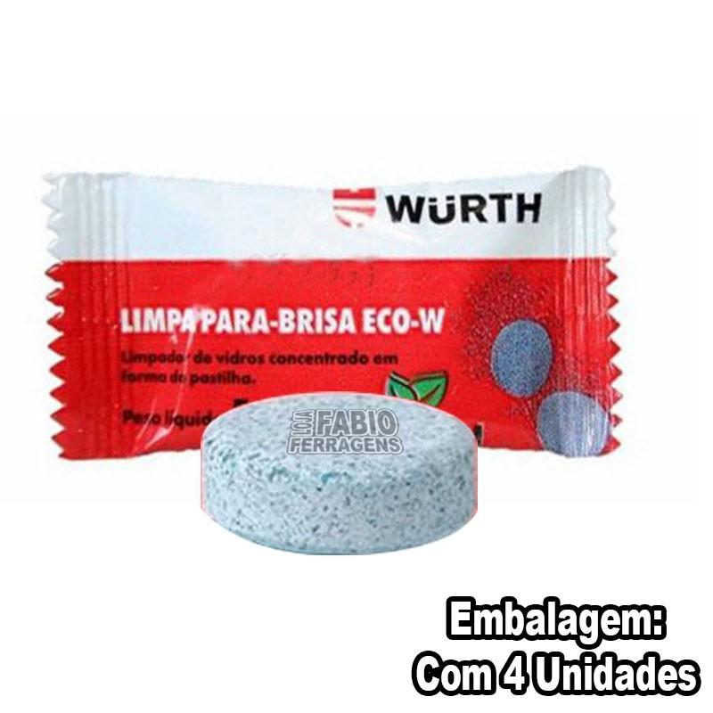 Limpa Para Brisa Wurth Em Pastilha Eco-w 5g - 4 Peças