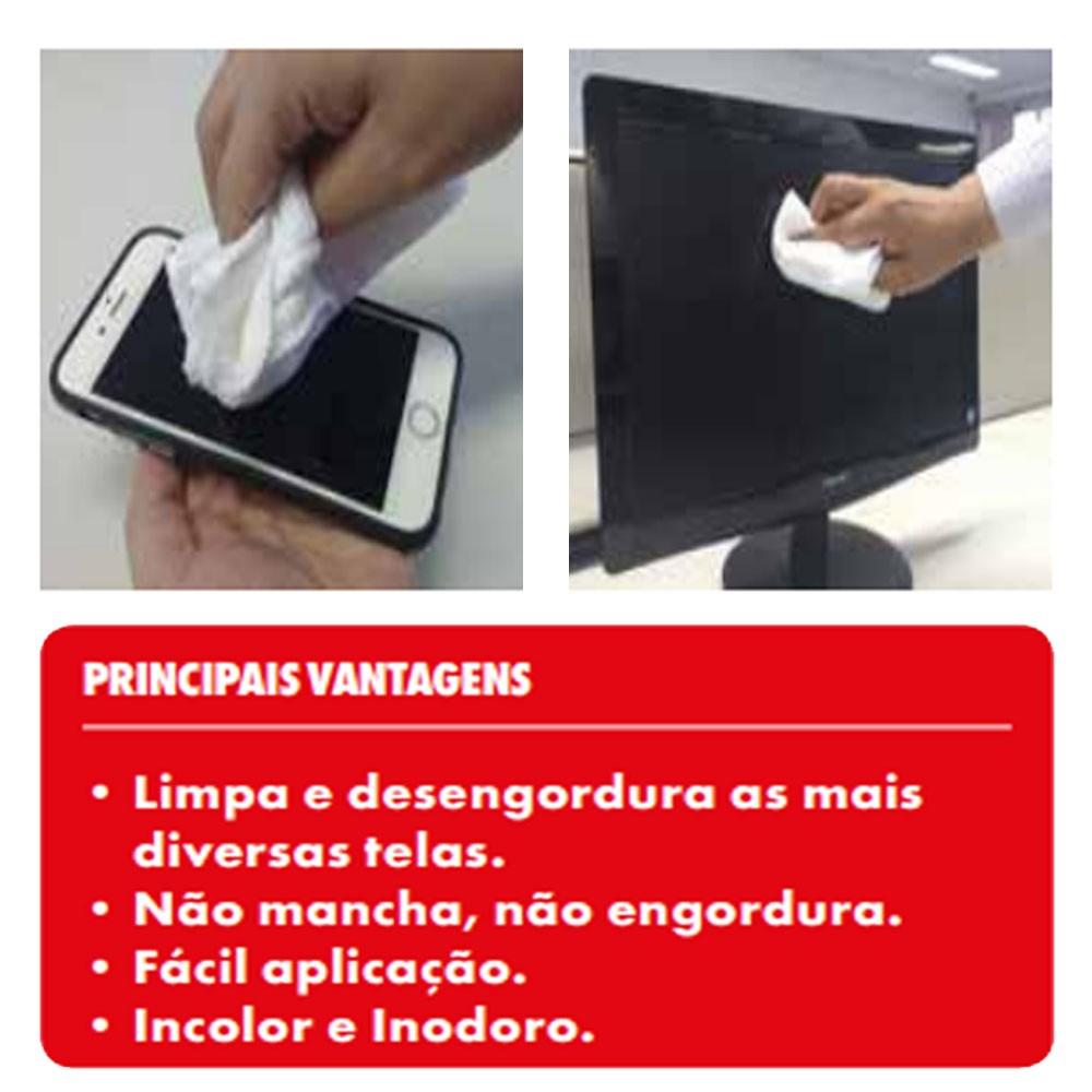 Limpa Telas E Desengordura Para: Pc, Monitor, Celular, Notebook E Etc