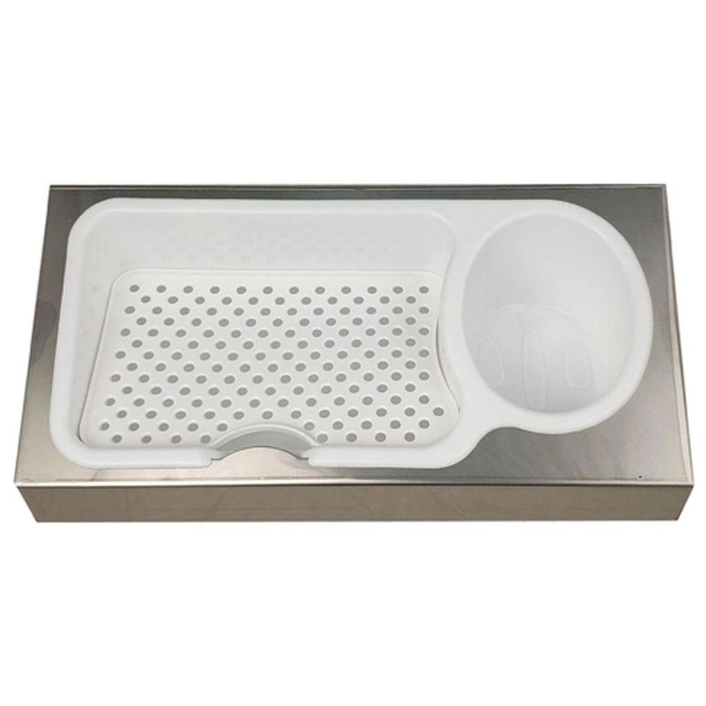 Organizador Porta Detergente E Esponja Para Pia Em 100% Aço Inox - Mak-Inox