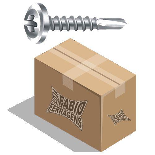 Parafuso Flangeado Phillips Brocante Zincado 4,2 x 13mm - Caixa Com 500 Unidades