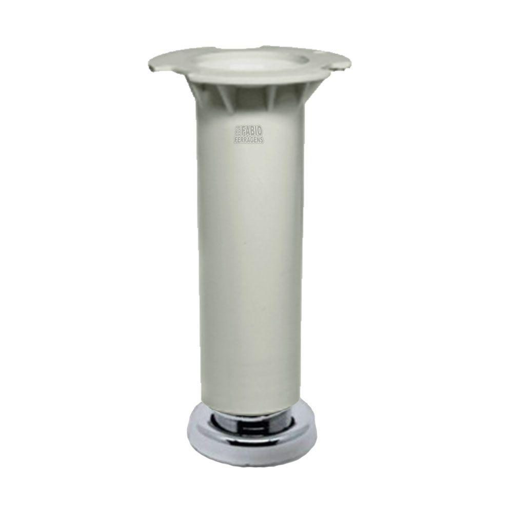 Pé Branco Para Móveis Para Móveis Aço Itatiaia De 16 a 18cm