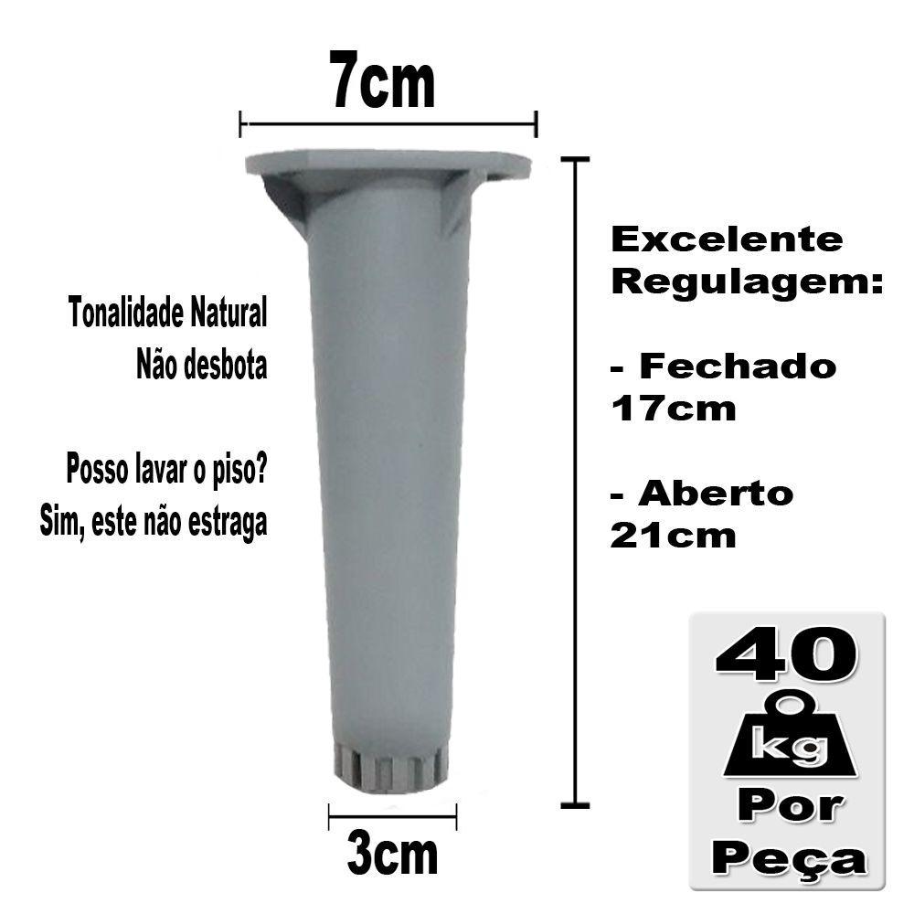 Pé Cinza Para Móveis Itatiaia Genérico De 17 a 21cm