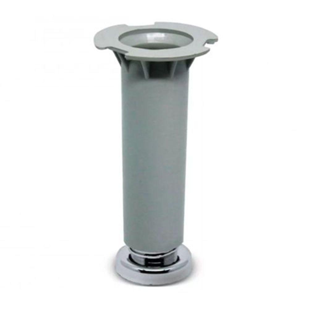 Pé Cinza Para Móveis Para Móveis Aço Itatiaia De 16 a 18cm