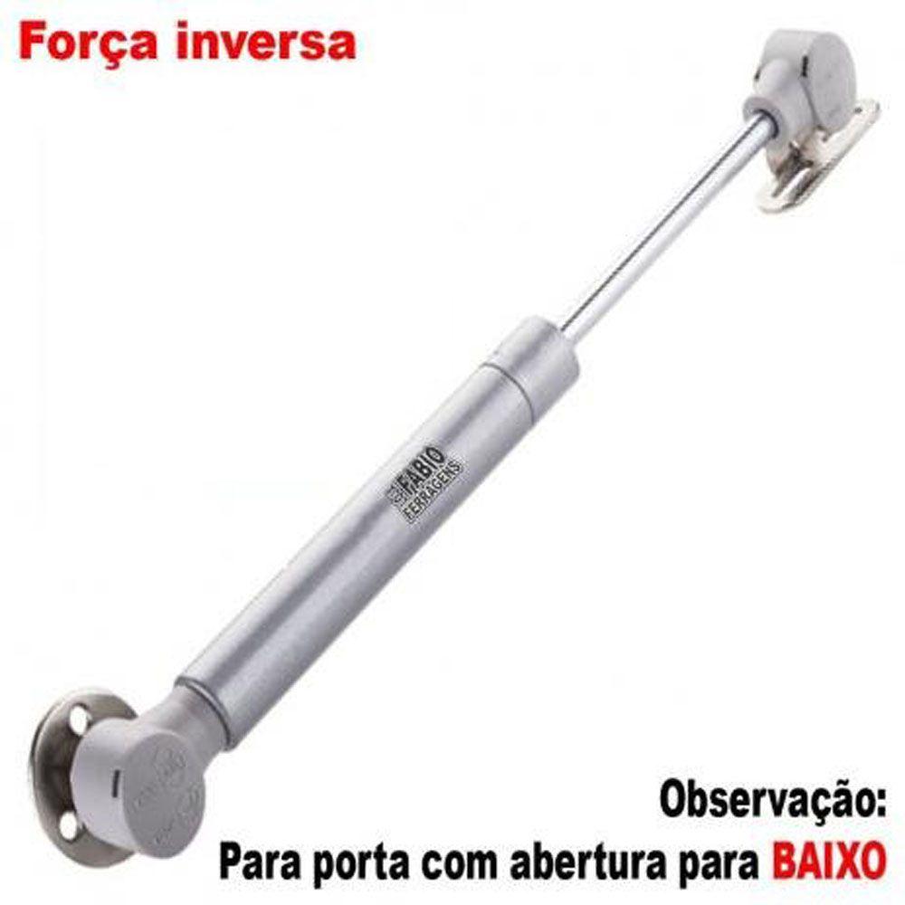 Pistão A Gás Para Armário Com Abertura Para Baixo Orignal De 80N ou 8 Kilos (Força Inversa)