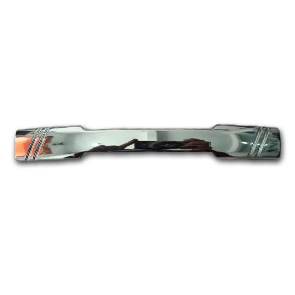 Puxador Netuno Para Móveis De 128 mm Cromado Com Parafuso De Fixação