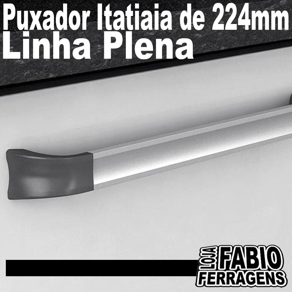 Puxador Para Móveis Itatiaia Modelo Plena De 224mm - 10 Peças