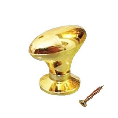 Puxador Para Moveis Oval Dourado Grande