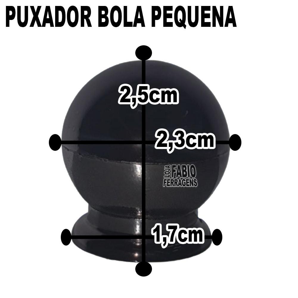 Puxador Plastico Para Moveis Bola Pequena Onix - 10 Peças