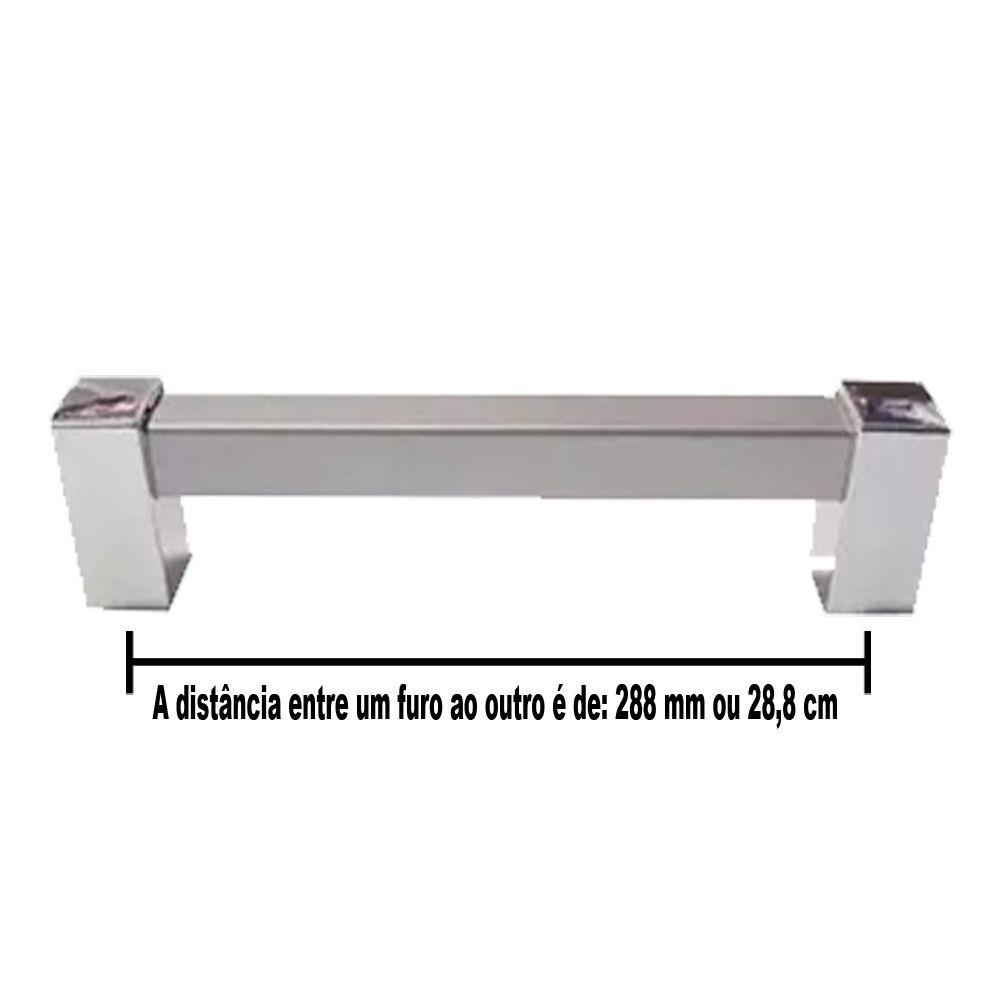Puxador Sampa Para Móveis De 288 mm