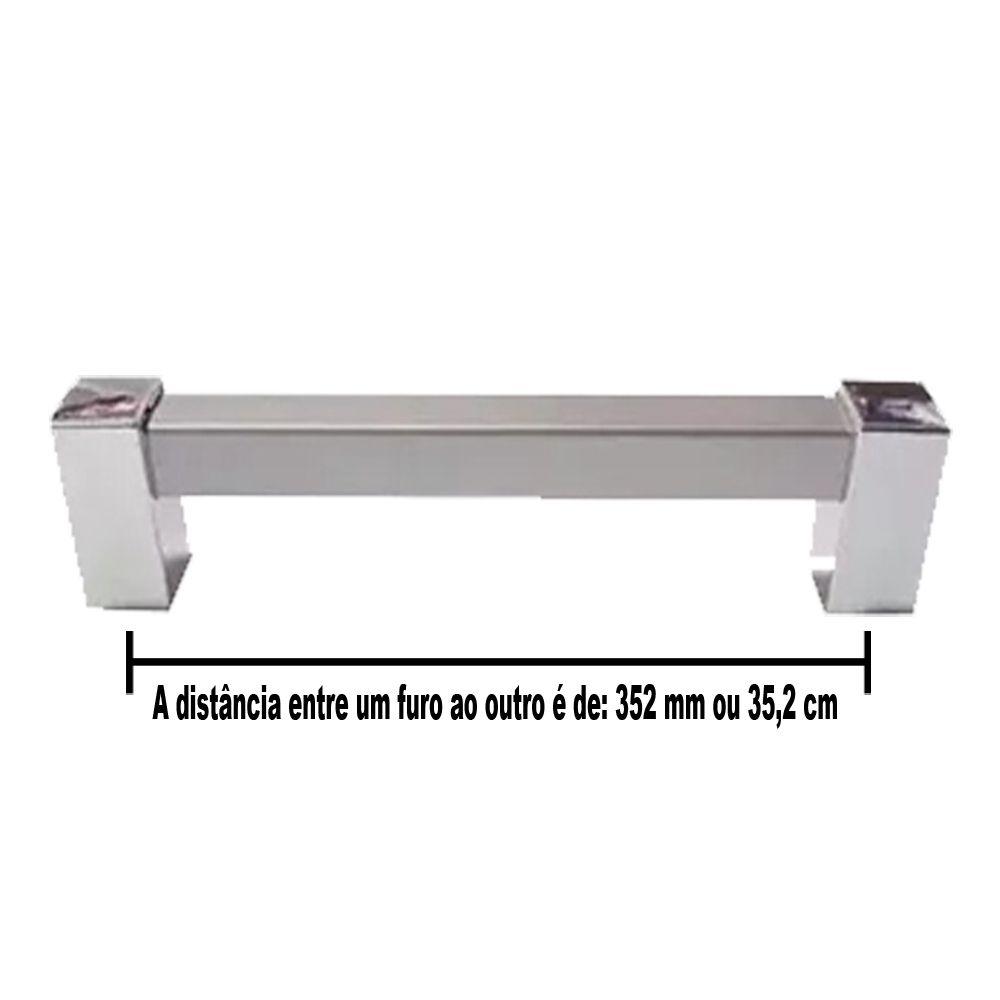 Puxador Sampa Para Móveis De 352 mm