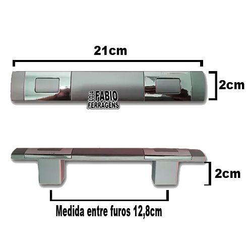 Puxador Saturno Para Móveis De 128 mm Com Parafuso De Fixação