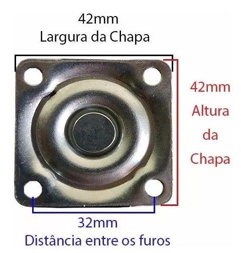 Rodizio Silicone / Gel Para Moveis De 35mm Com Freio