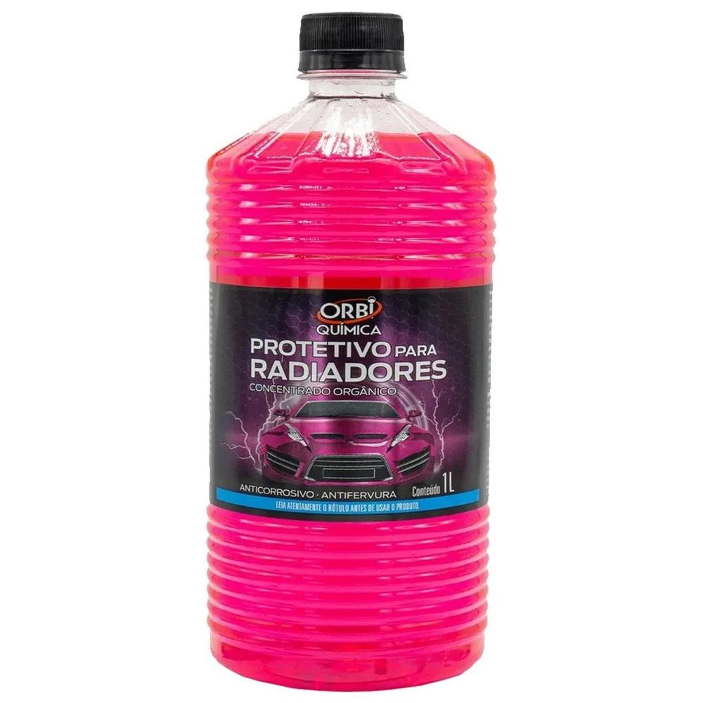 Solução Radiador Orgânica Concentrada Rosa De 1 Litro - Orbi Quimica