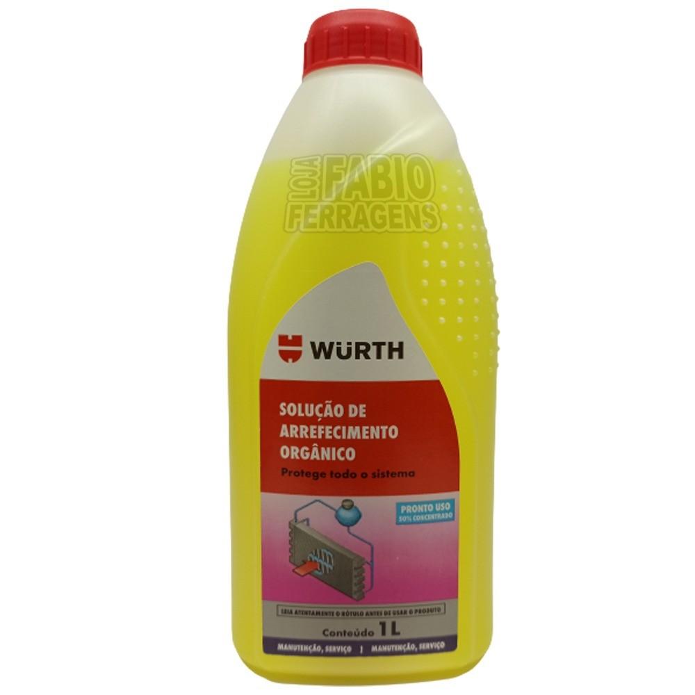 Solução Radiador Orgânico 50% Concentrado Amarelo De 1 Litro Renault