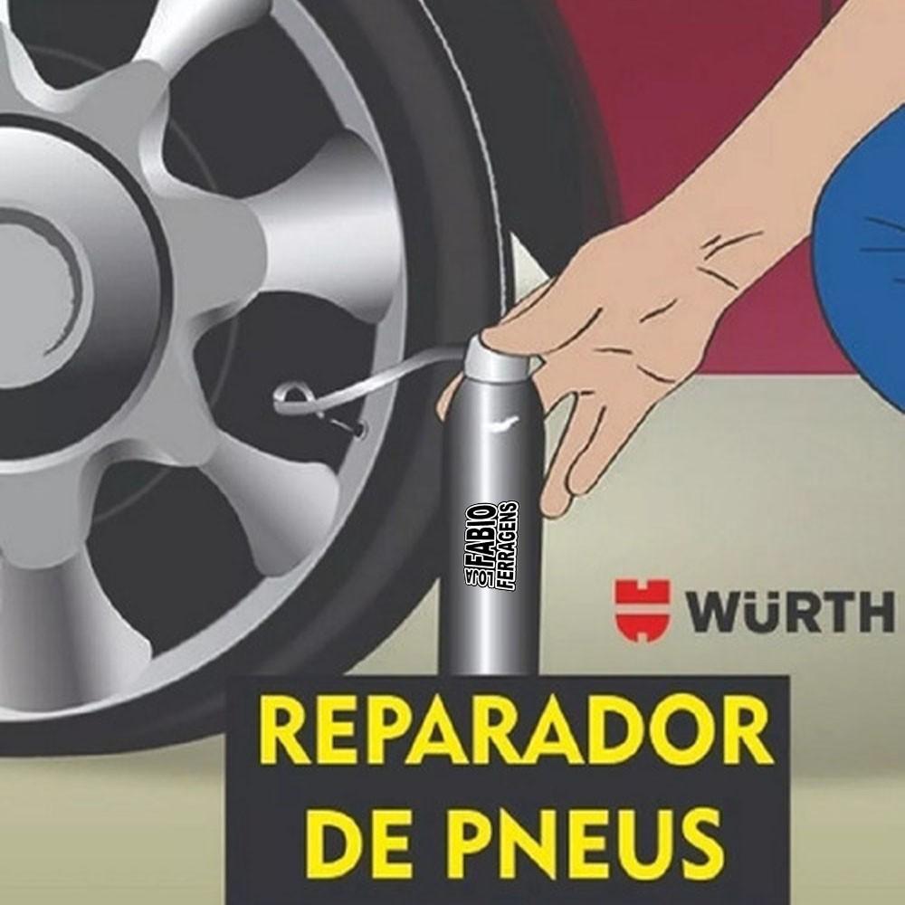 Spray Enche E Tapa Furo Reparador De Pneus Carro Wurth 300ml