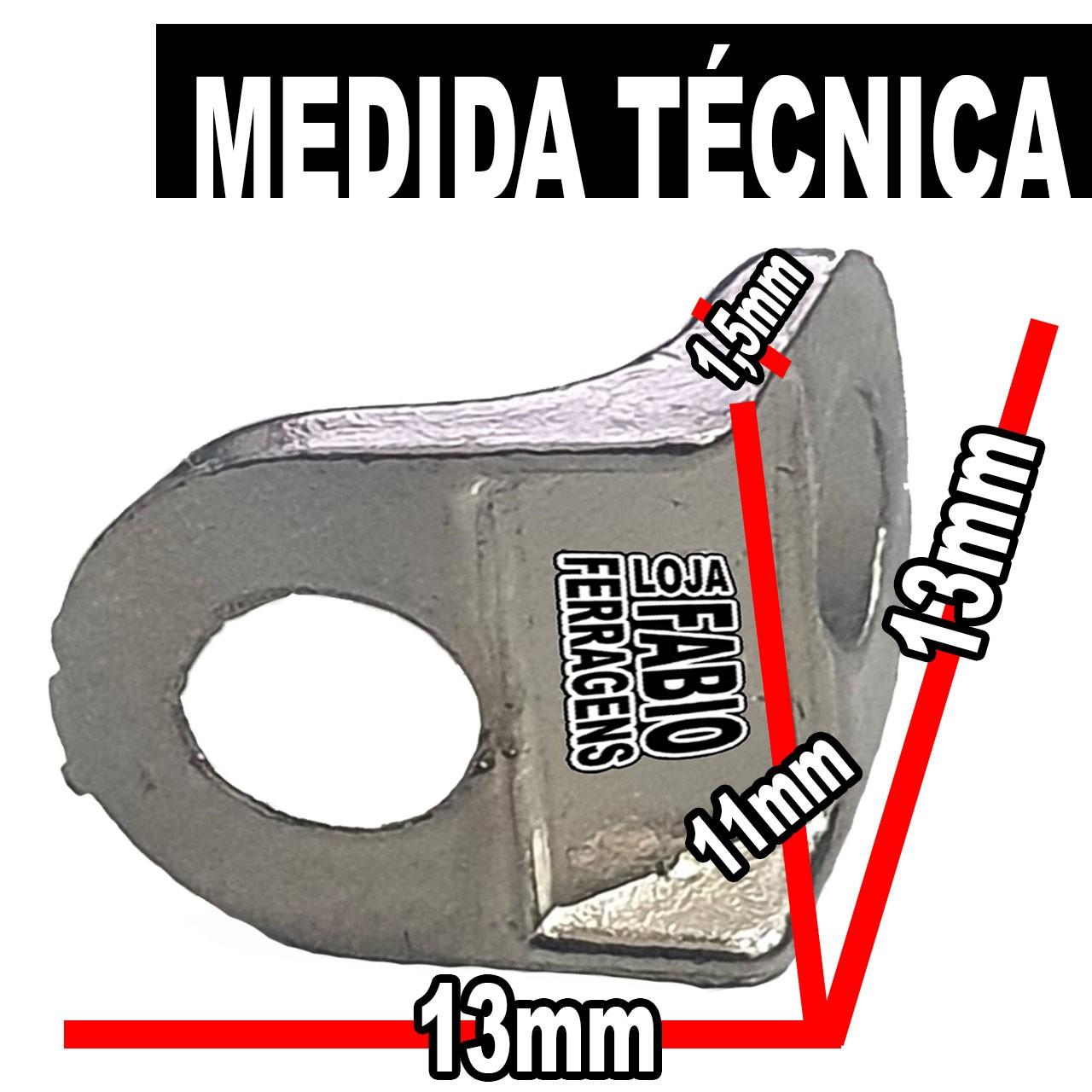 Cantoneira Para Moveis Aliviada Niquelada 13x13mm - Pacote Com 100 Peças