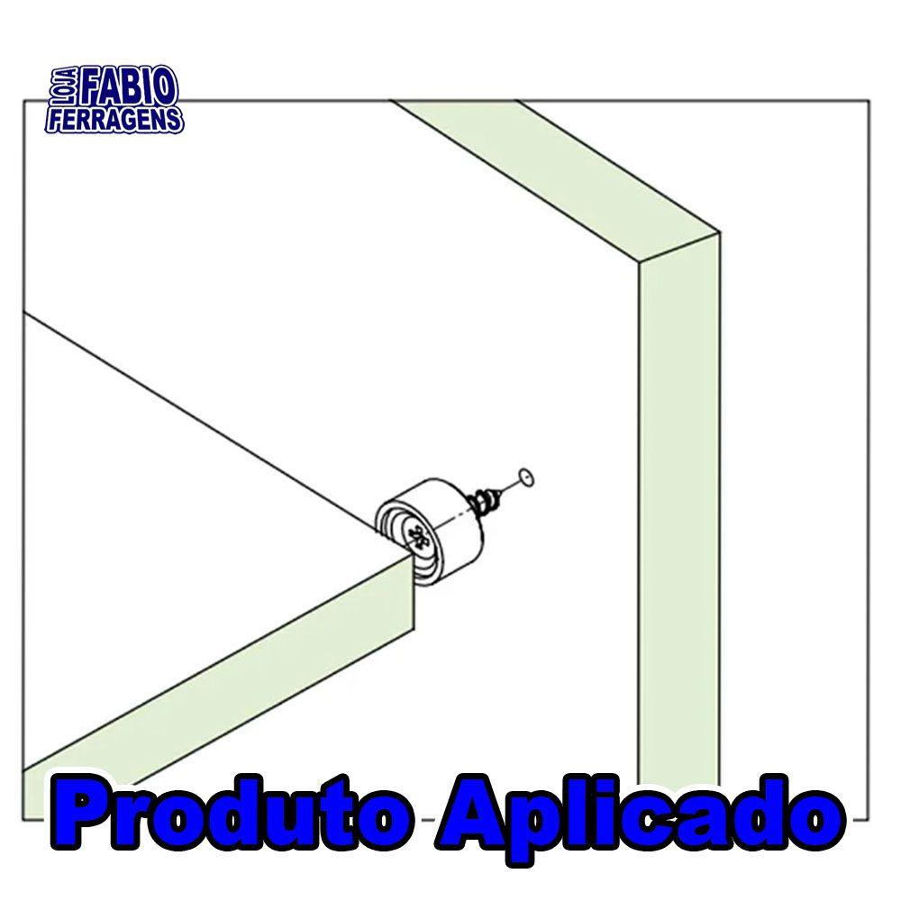 Suporte Prateleira Para Móveis 10x15 Redondo Branco - 100 Peças