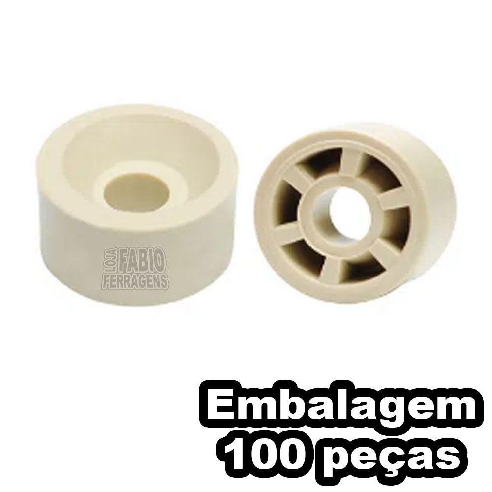 Suporte Prateleira Para Móveis 10x15 Redondo Marfim - 100 Peças