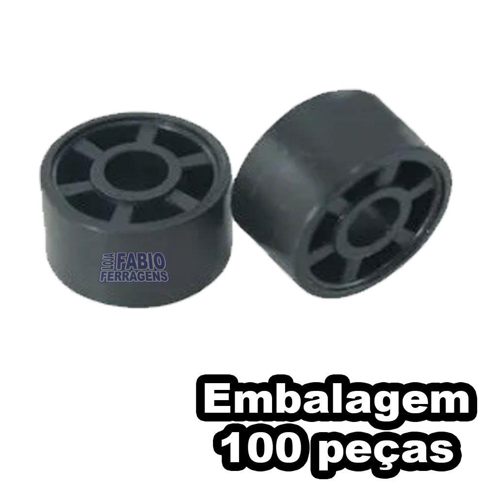 Suporte Prateleira Móveis 10x15 Redondo Preto Móveis 100 Unidades