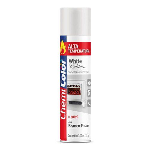 Tinta Spray Branco Alta Temperatura 600°C De 350ml