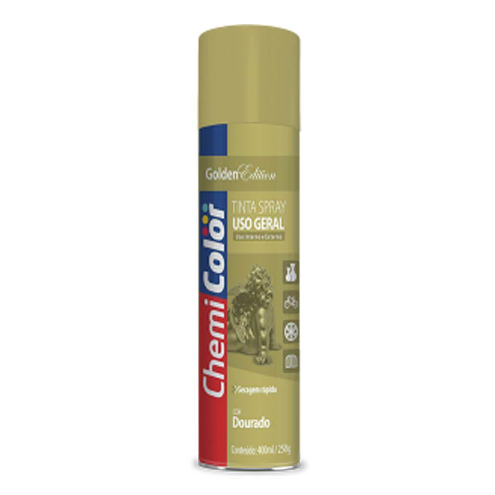 Tinta Spray Metálico Dourado De 400ml