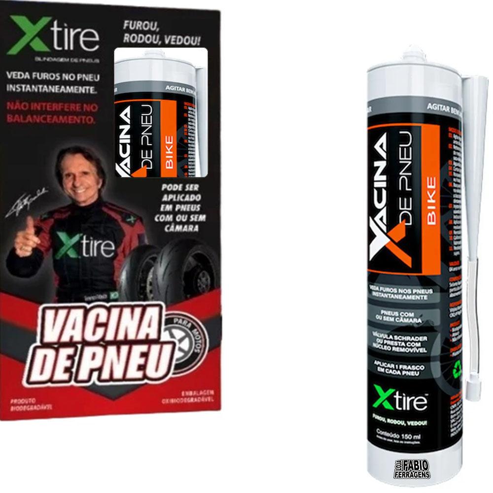 Vacina XTire Blindagem Anti Furo Pneu Bike 150ml
