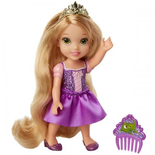 Boneca Disney Princess Rapunzel Petite c/ Pente 15 cm Oficial Licenciado