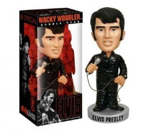 Elvis Presley Preto Boneco Wacky Wobbler Bobblehead Da Funko