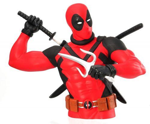 Marvel Deadpool Action Figure Cofre Busto Licenciado