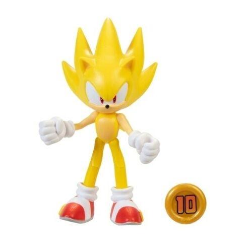 Sonic The Hedgehog Super Sonic C/ Super Ring Acessório Dobrável Oficial Licenciado