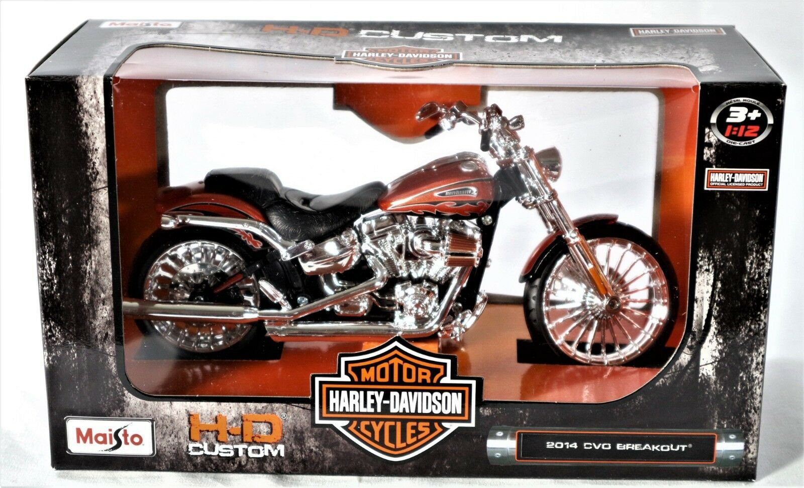 2014 Harley Davidson CVO Breakout Motorcycle Model 1/12
