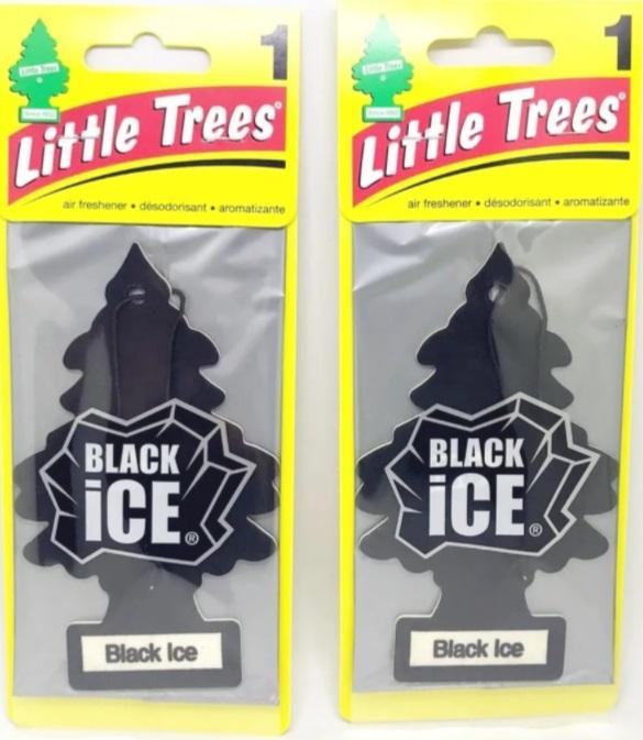 2 Little Trees Black Ice Aromatizador Original