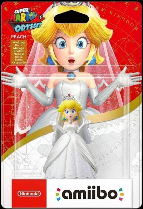 Amiibo Peach Wedding Style Ver. Super Mario Odyssey Oficial Licenciado
