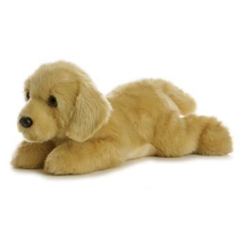 Aurora World Flopsie Pelúcia Goldie Labrador Oficial Licenciado