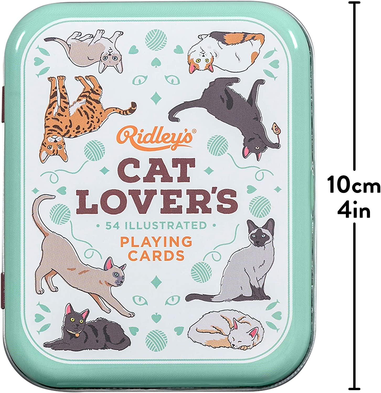 Baralho Cat Lovers com 52 cartas de diferentes raças de gatos