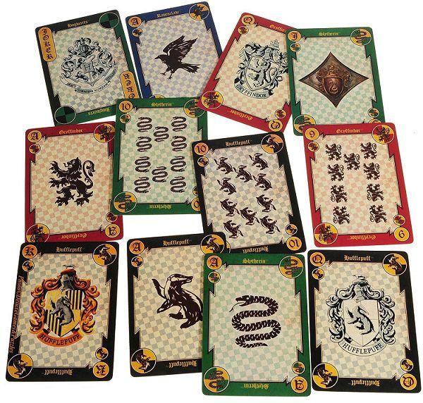 Baralho Harry Potter Modelo 02 Brasões De Hogwarts Oficial Licenciado