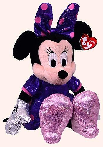 Beanie Babies  Minnie Disney Vestido Roxo Ty Pelúcia ( Original )