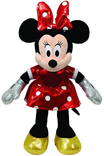 Beanie Babies Minnie Disney Vestido Vermelho Ty Pelúcia ( Original)