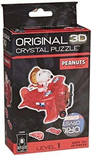Bepuzzled Original 3D Crystal Quebra Cabeça  Flying Ace Snoopy