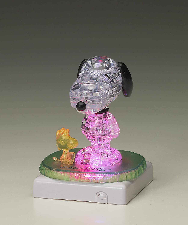BePuzzled Original 3D Crystal Quebra Cabeça Snoopy & Woodstock Oficial Licenciado