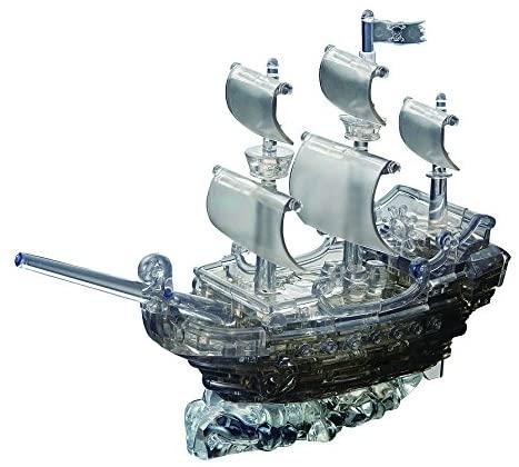 Bepuzzled Original 3D Crystal Quebra Cabeça Navio Pirata Preto