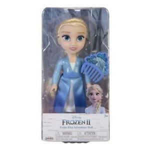 Boneca Disney Frozen 2 Petite Elsa c/ Pente 15 cm Oficial Licenciado
