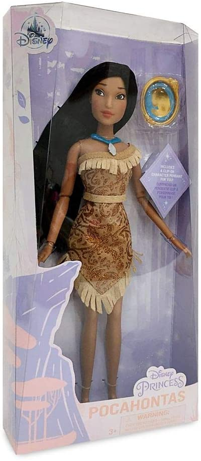 Boneca Disney Princesa Pocahontas com Pingente Original Disney Store