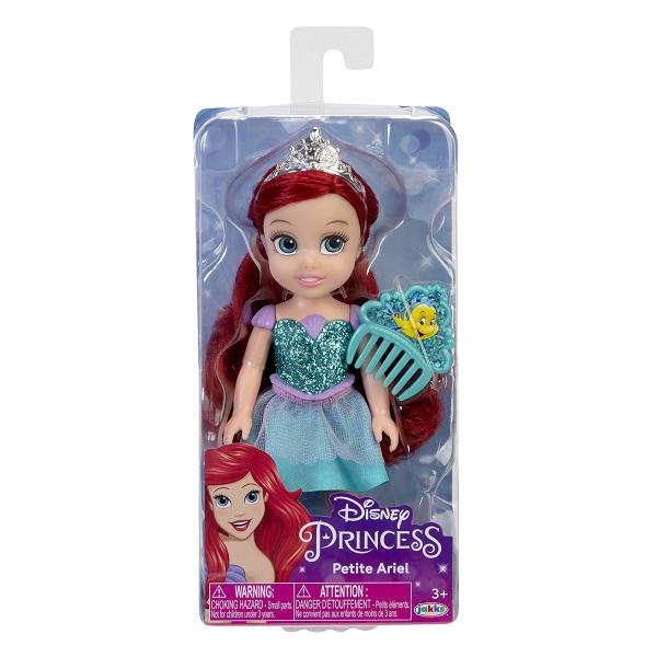 Boneca Disney Princess Ariel Petite c/ Pente 15 cm Oficial Licenciado