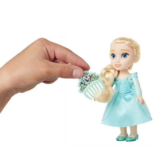 Boneca Disney Princess Elsa Petite c/ Pente 15 cm Oficial Licenciado