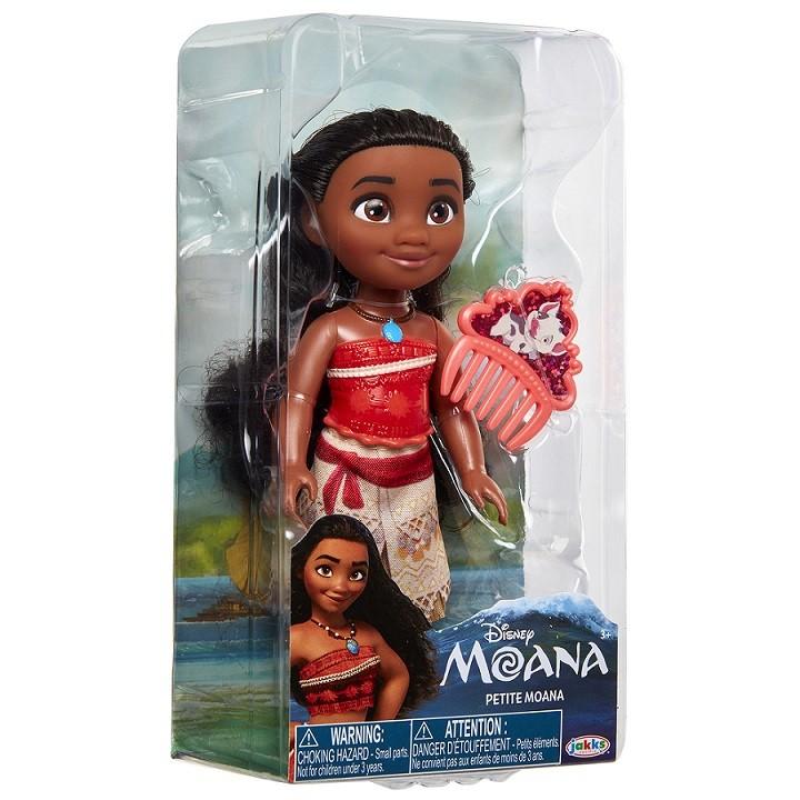 Boneca Disney Princess Moana Petite c/ Pente 15 cm Oficial Licenciado