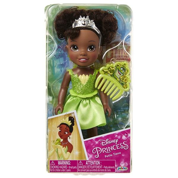 Boneca Disney Princess Tiana Petite c/ Pente 15 cm Oficial Licenciado