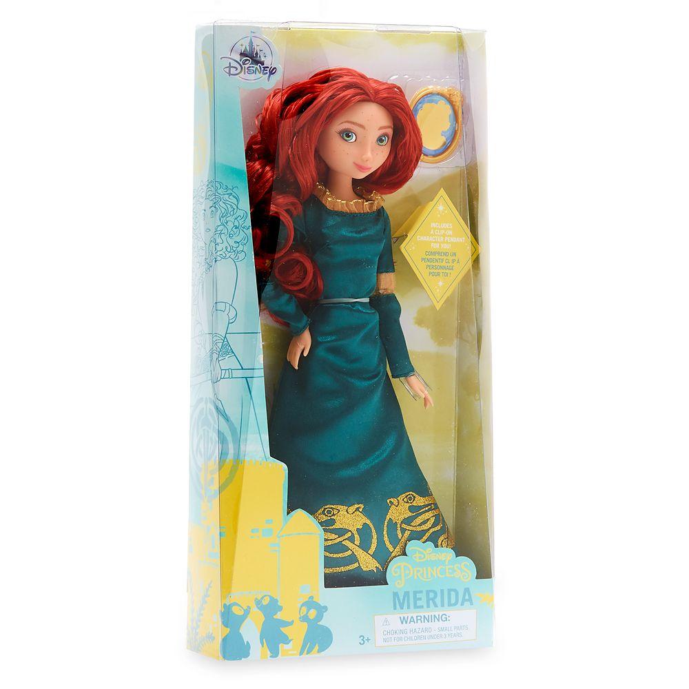 Boneca Merida Classic Doll com Pingente Original Disney Store
