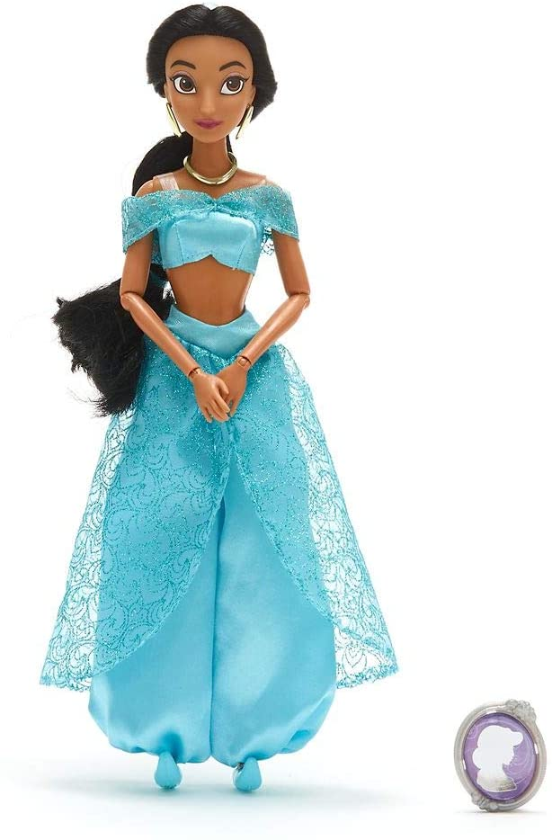 Boneca Princesa Jasmine com Pingente Classic Doll  Original Disney Store
